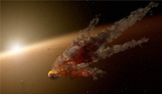 Telescópio Spitzer flagra choque de asteroides