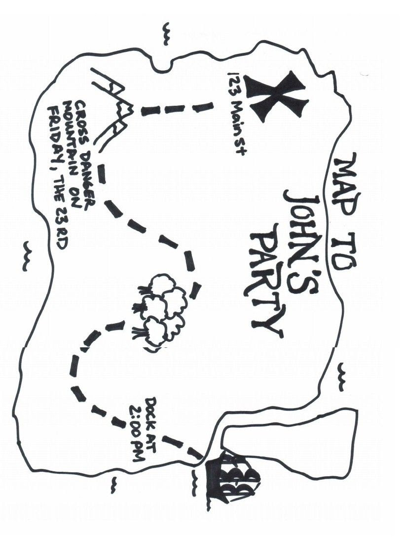 Image Result For Picture Of A Treasure Map