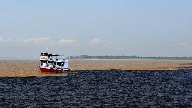 Encontro das Águas em Manaus (Foto: Reprodução/ TV Amazonas)
