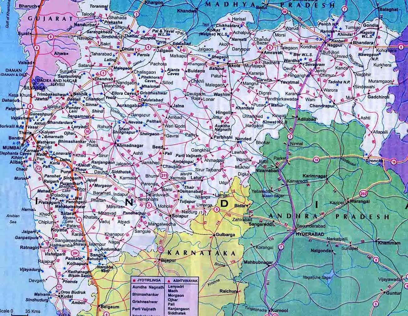 Maharashtra Map Road Maharashtra Road Map | Kitchen 2018