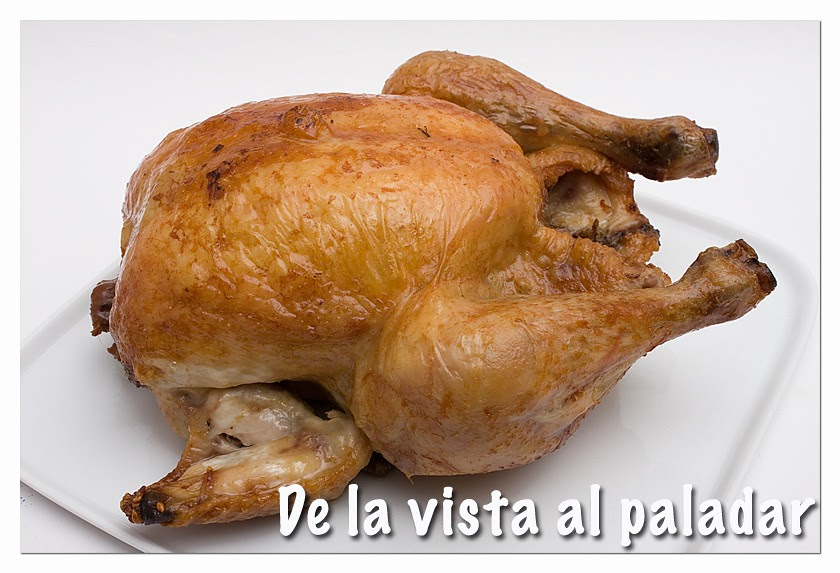 Pollo asado de la vista al paladar for Cocinar un pollo entero