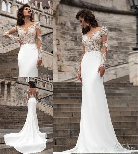 Millanova 2016 Long Sleeve Wedding Dresses Mermaid Scoop
