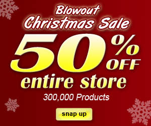 Christmas Sale Entire Store 50% OFF + Free Shippin