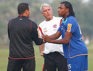 Diego Mauricio Luxemburgo treino Flamengo (Foto: Leandra Benjamin / FlaImagem)
