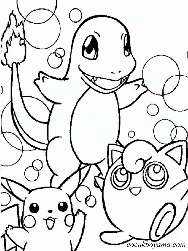Pokemon 12 ücretsiz Boyama Resimleri