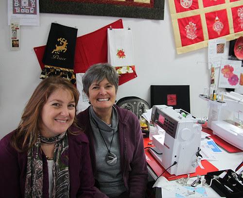 Daniela Stout and me at Cozy Quilt shop