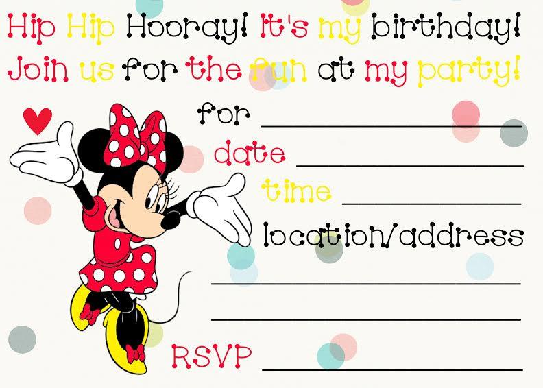 Free Birthday Invitations To Print   Drevio Invitations Design