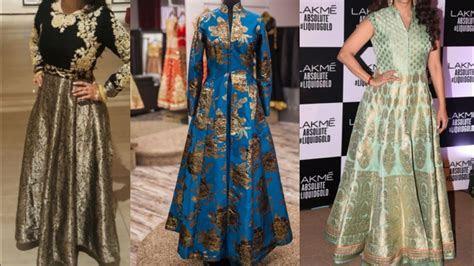 latest brocade fabric dress design ideas for Indian