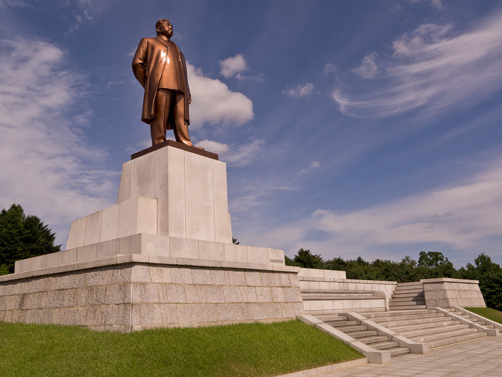 Kaesong - Kim watches over the city,