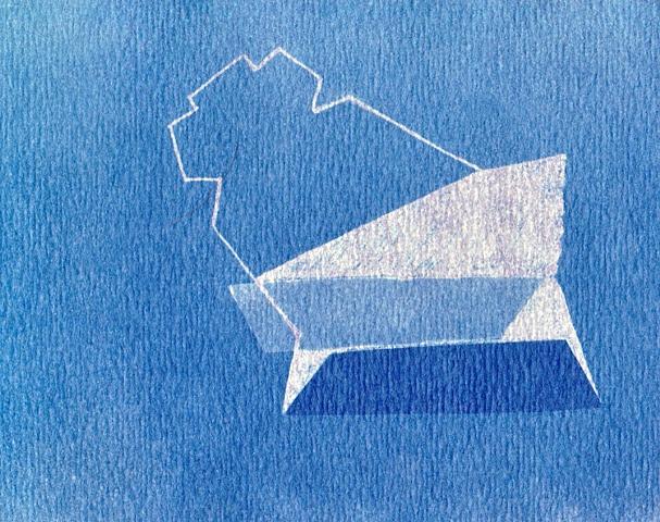 Cyanotype from Cliche Verre