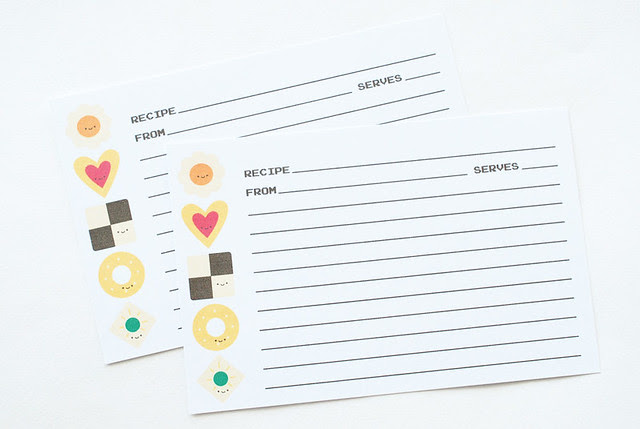 Yoshi's Cookie Printable Recipe Cards