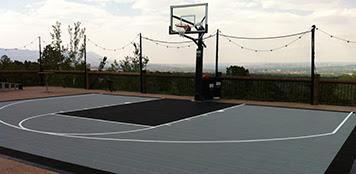 Home Basketball Courts Backyard Tennis Court Home Putting Greens