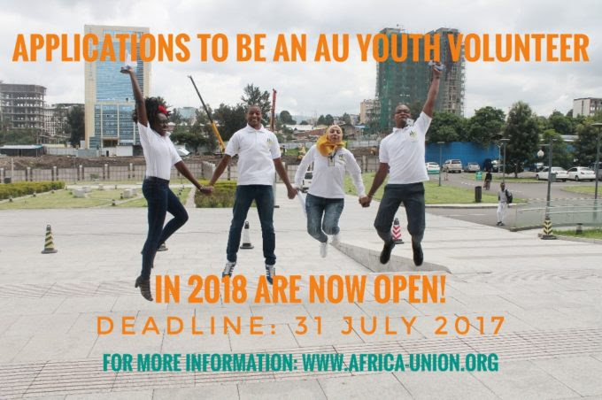 Apply for 8th Batch African Union Youth Volunteer Corps (AU-YVC)