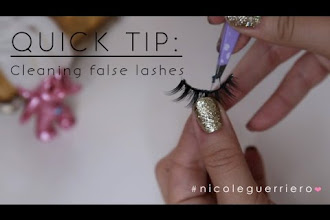 Quick Tip: Cleaning False Lashes