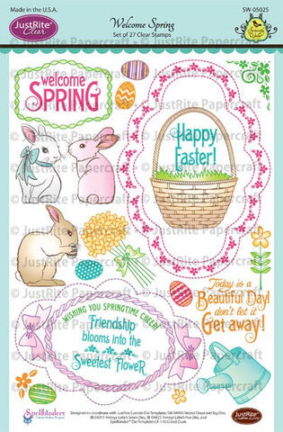 Welcome Spring Clear Stamps
