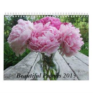 Peonies 2013 Floral Flower Calendar