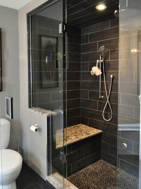 Create a feeling of bathroom space: Floor to ceiling ...