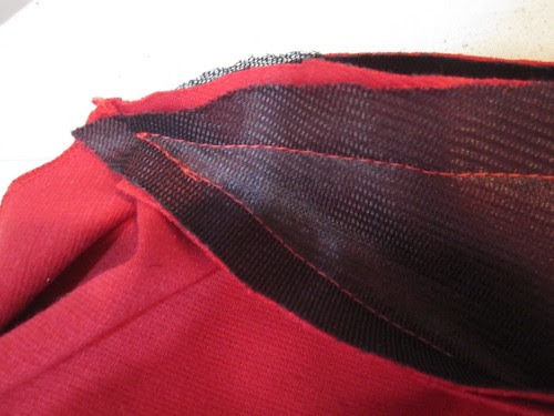 Stitch to a Point at Collar
