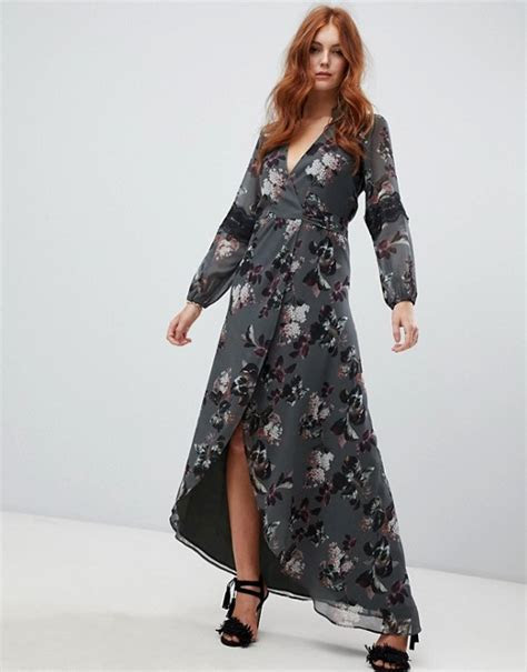 Hope and Ivy   Hope & Ivy long sleeve wrap front maxi