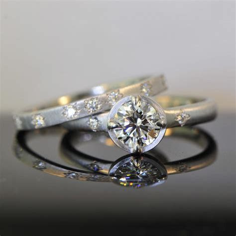 Prong and Bezel Set Diamond Engagement Ring   Von Bargen's
