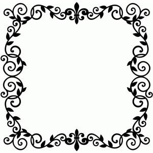 Silhouette Design Store View Design 83374 Fleur De Lis Vine Frame