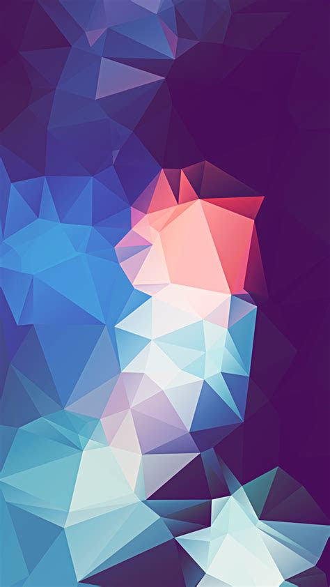 abstract triangles colorful render iphone  hd wallpaper