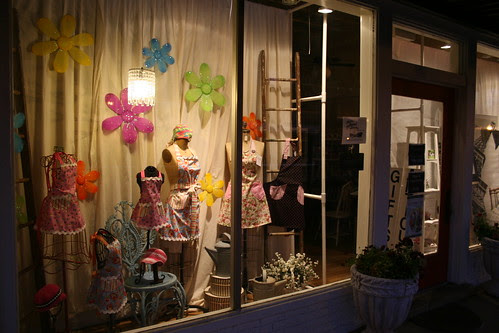 nacogdoches shop window early morning