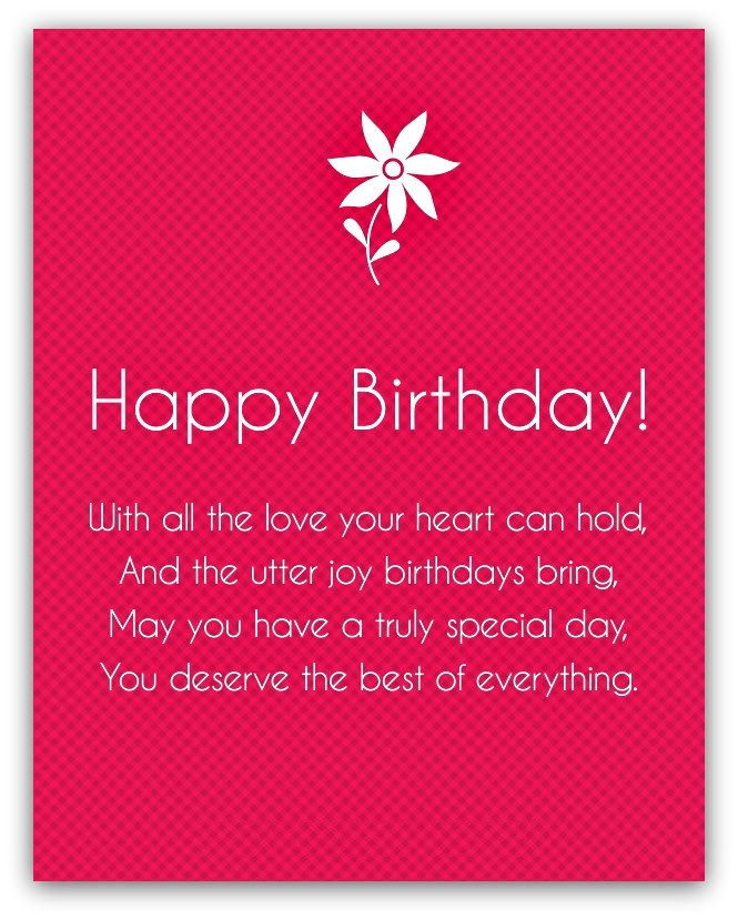 Happy Birthday Poems For Friends And Family