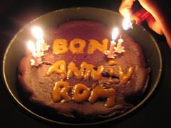 Gâteau d'anniv