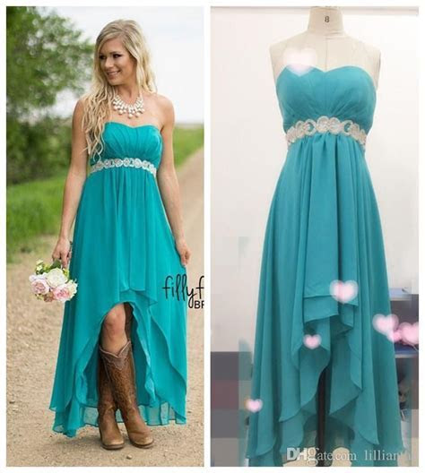 Real Image Hot Country Western High Low Turquoise