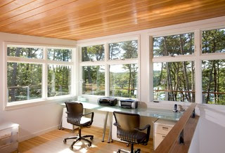Mid-Century Modern Addition, Truro modern home office