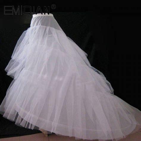 Cheap Wedding Petticoat Jupon Court Train Crinoline Slip