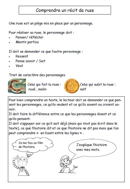Trace écrite Lectorino et Lectorinette - Comprendre un récit de ruse