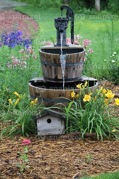 Another Whiskey Barrel, Old Hand Pump Idea