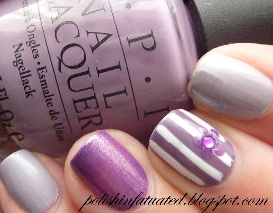 purple nail art skittle2