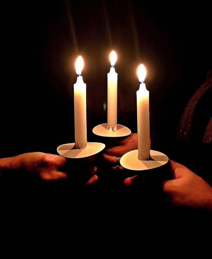 """(100) VIGIL CANDLES *DELUXE* SET!! 7"""" Candles; w/Bobeches ..."""