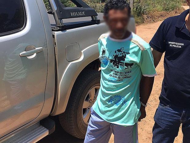Trabalhador rural foi preso por estuprar as quatro filhas e a nora na Bahia (Foto: Polícia Civil/ Divulgação)