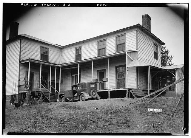 2.  Historic American Buildings Survey Alex Bush, Photographer, February 2, 1937 EAST (REAR) ELEVATION - King Plantation, Frank Street, Talladega, Talladega County, AL