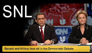 Saturday Night Live - Fred Armisen as Barack Obama and Amy Poehler as Hillary Clinton