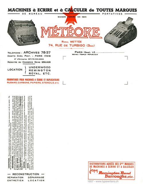letterhead_meteore_1957
