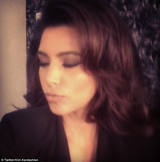 Comparison: During the shoot, Kim puckered up for a selfie snap and compared herself to iconic screen siren Sophia Loren
