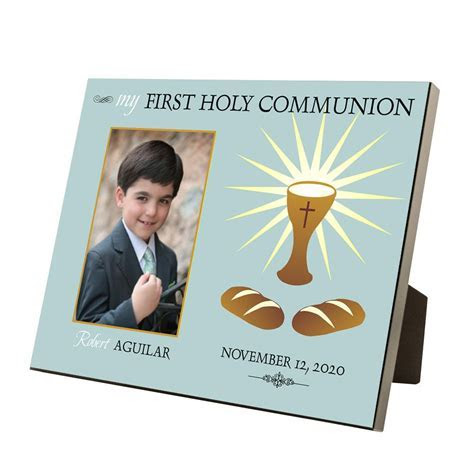 My First Holy Communion Personalized 4x6 Picture Frame for