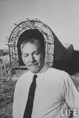 Ibrahim Zaki Egyptian Head, Ibrahim Zaki Kenawi, of Aswan dam project supervises work at damsite.1966