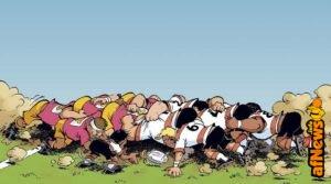 Rugbymen, la bédé umoristica fa meta!