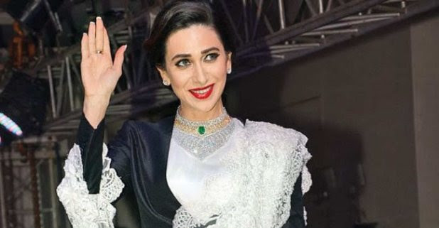 Saris worn by Karisma Kapoor will definitely give your styling goals