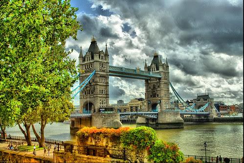 London Tower Bridge Tone Mapping