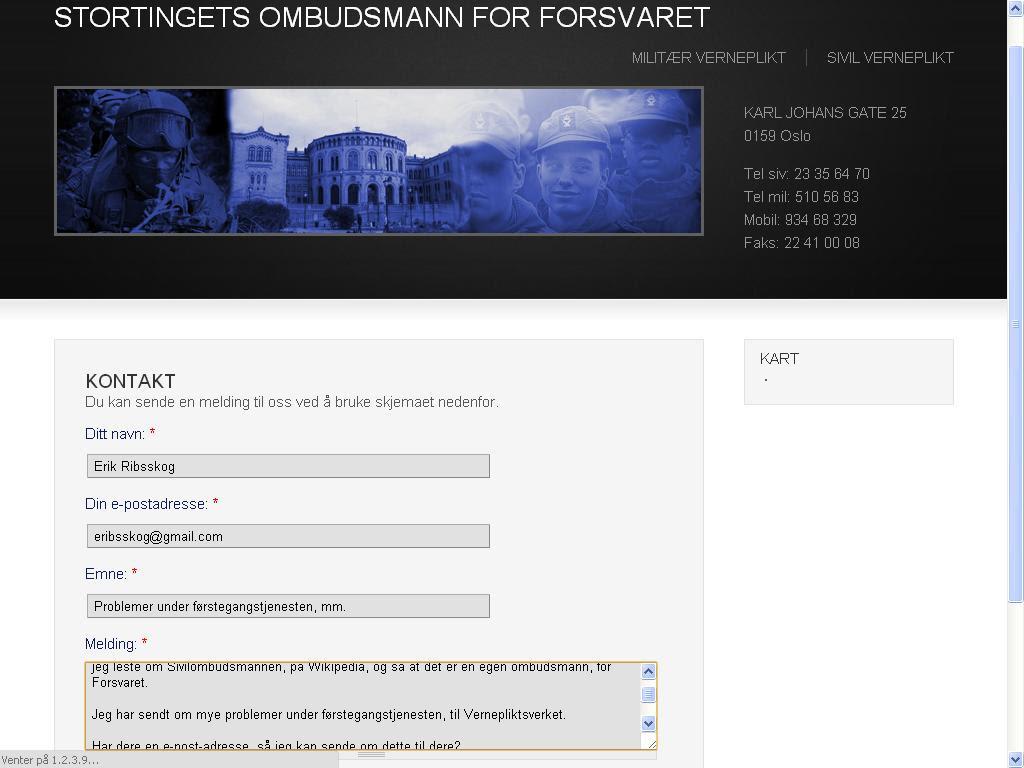 ombudsmann forsvaret