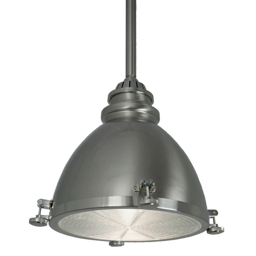 Home Decorators Collection 1Light BrushedNickel Ceiling Metal Dome Pendant2539771 The Home
