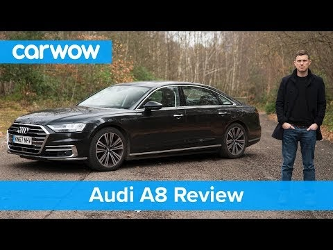 The all new high-tech Audi A8 2018 car test drive and review