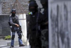 Policía indonesia detiene a nueve supuestos terroristas con explosivos. EFE